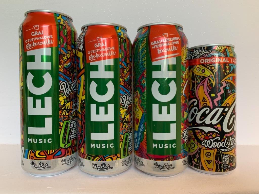 Puszki Lech PolandRock / Woodstock Coca Cola piwne