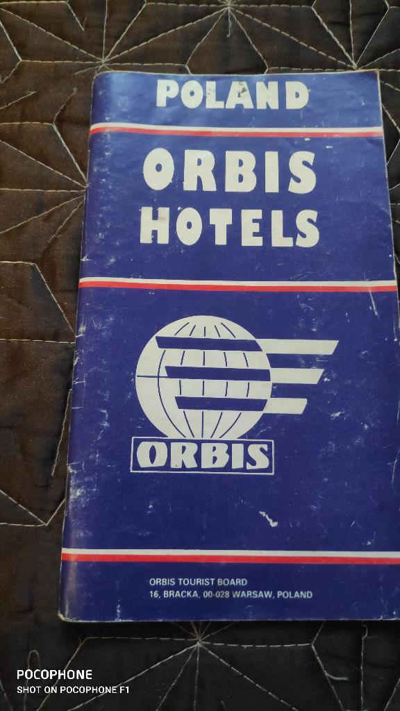 POLAND ORBIS HOTELS 1978 J. ANG PRZEWODNIK PO HOTE