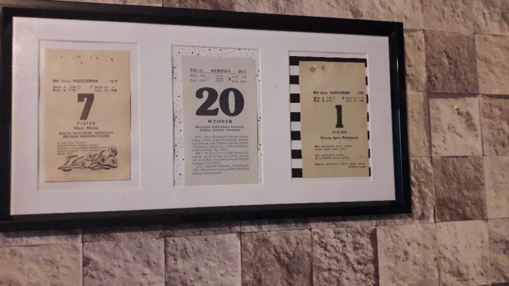 Kartki z kalendarza 85r i 86r.