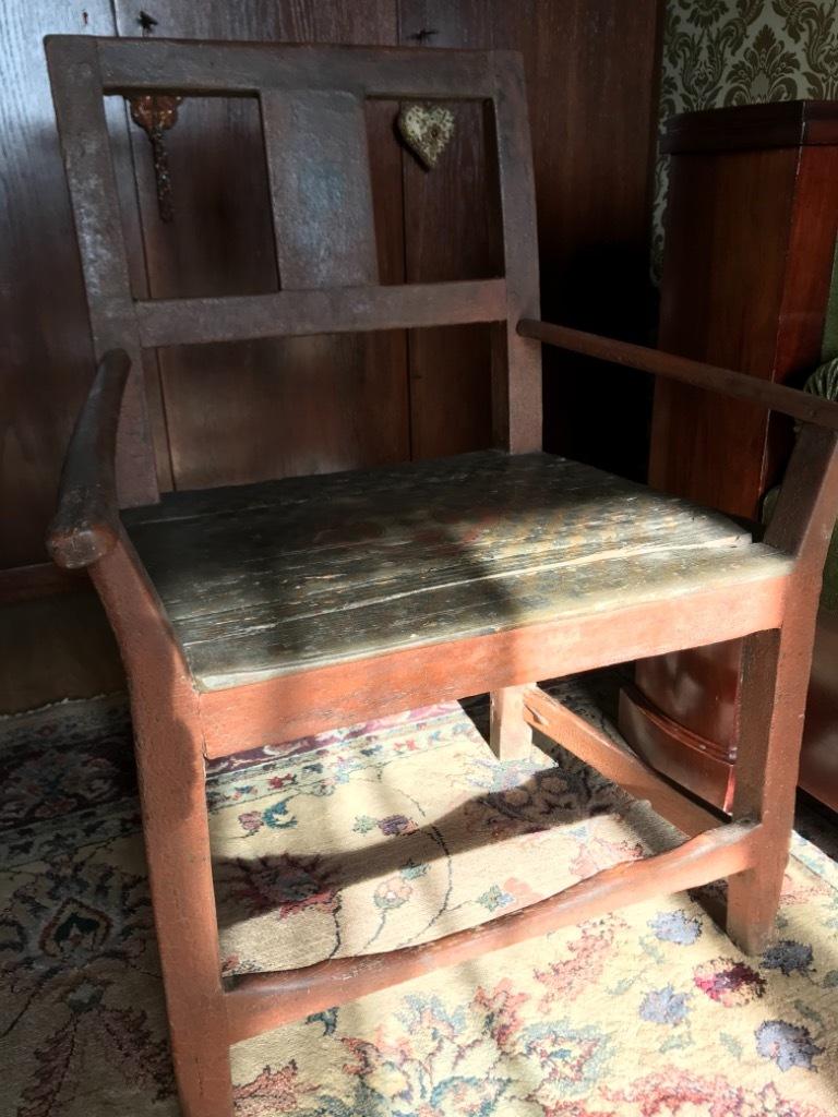 Fotel kilkusetletni antyk unikat
