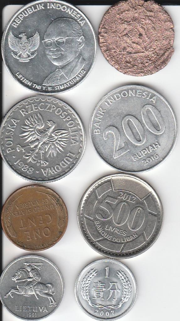 zestaw 8 monet