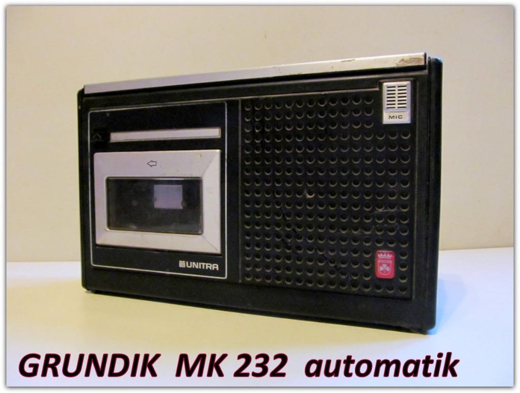 Magnetofon kasetowy GRUNDIK MK 232 UNITRA sprawny