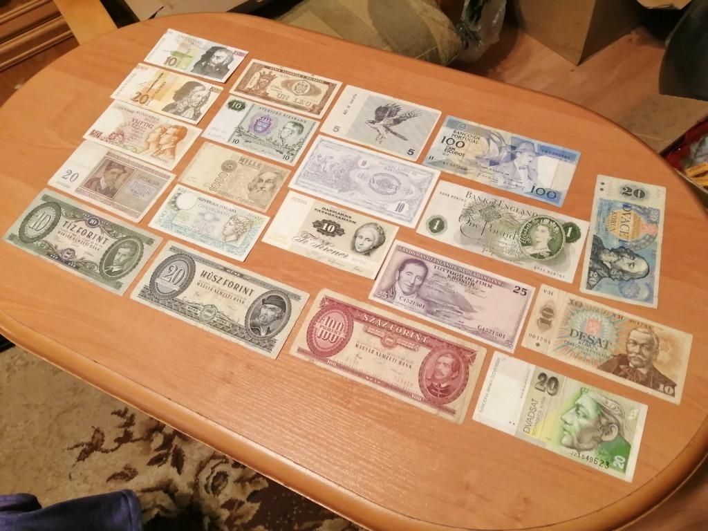 20 starych banknotów z Europy!!!