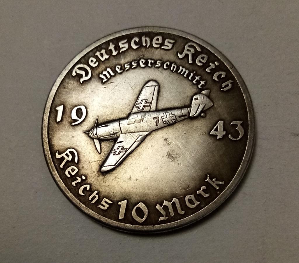 Moneta 10 marek 1943 III Rzesza