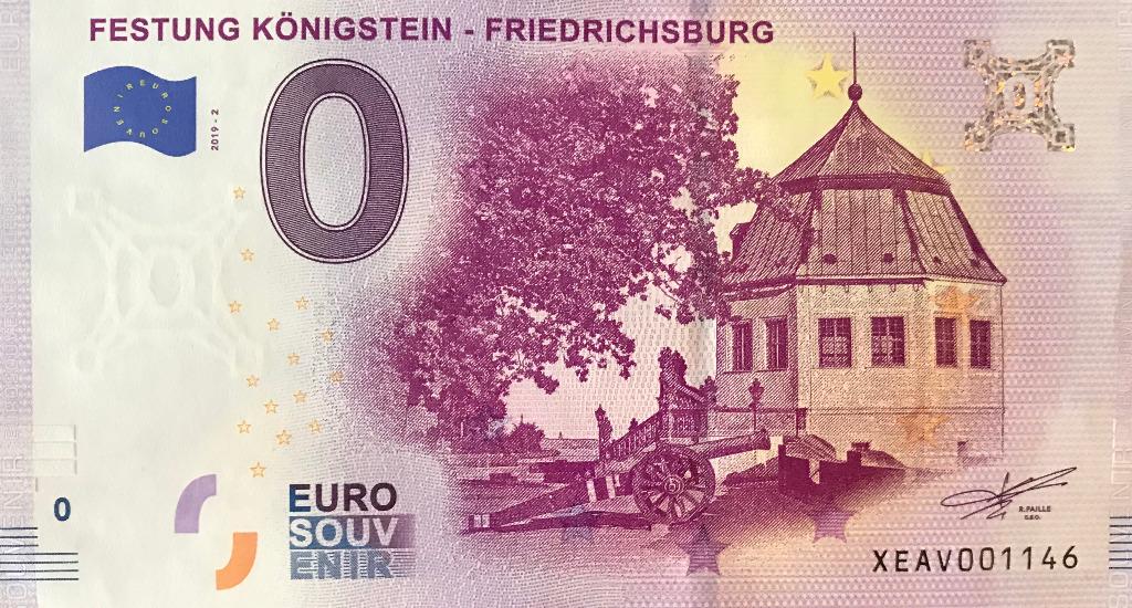 0 Евро Крепость Кенигштайн 0 € Праздник Кенигштайн