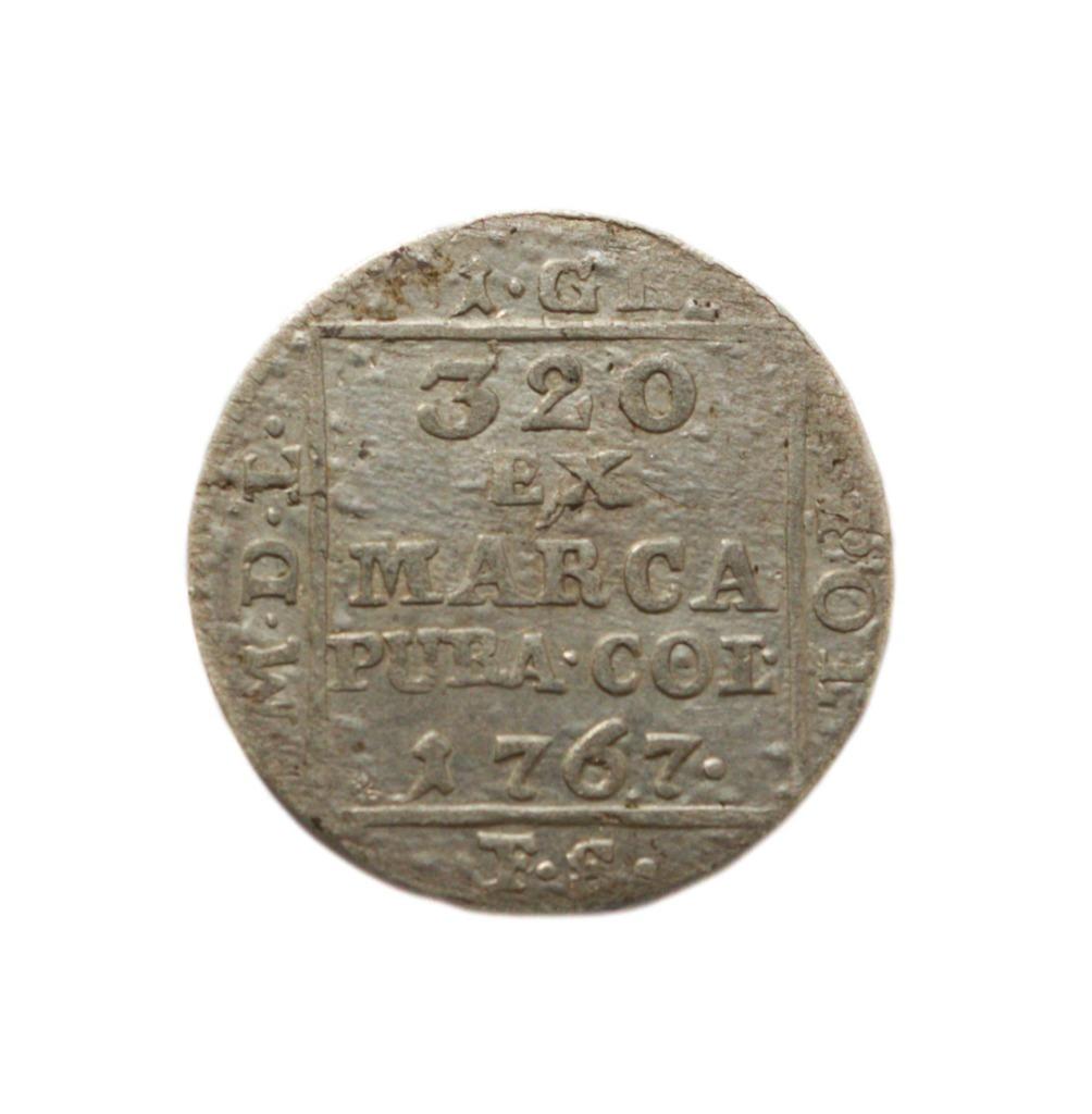 Серебряный пенни 1767 года