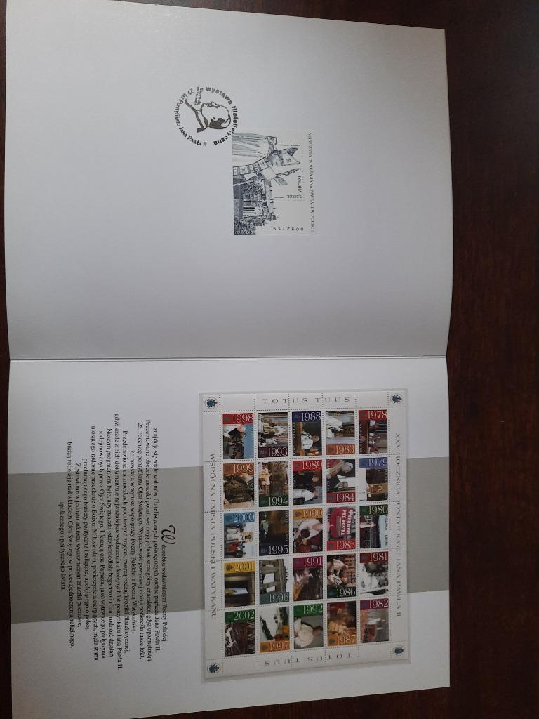 Ark 3868 3892** folder blok 180 Papież Sieradz