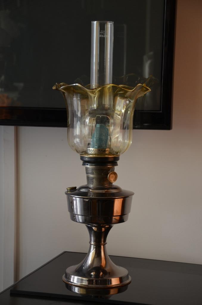 ORGINALNA LAMPA NAFTOWA ALADDIN USA Z ŻARNIKIEM