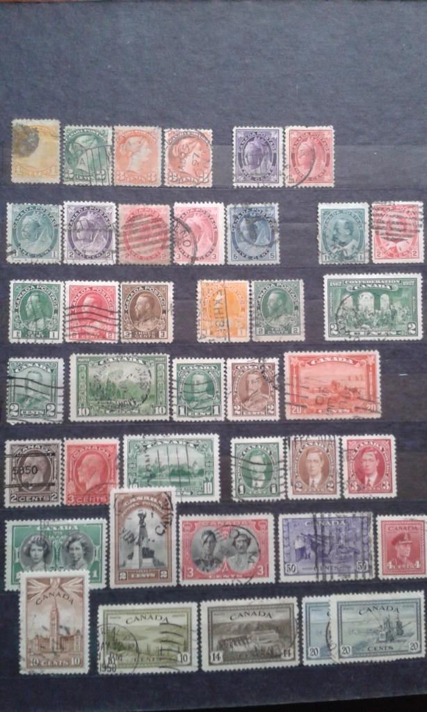 Kanada. Zestaw znaczków kasowanych.
