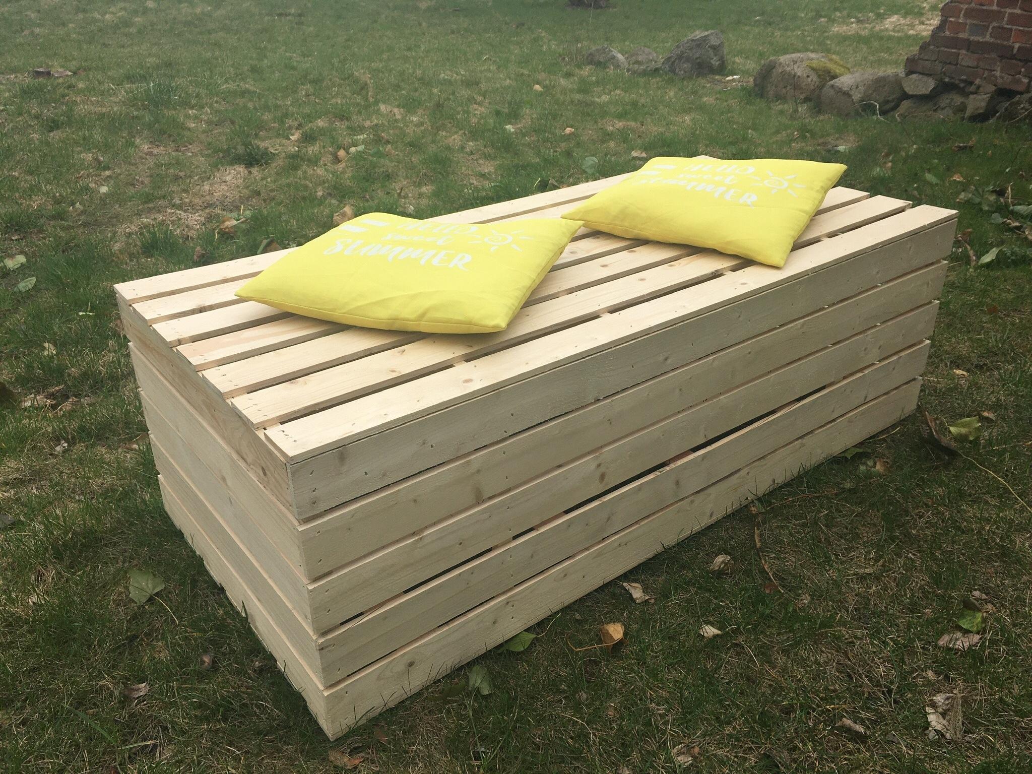 Skrzynia drewniana z pokrywą 130x60x40 hebl logo