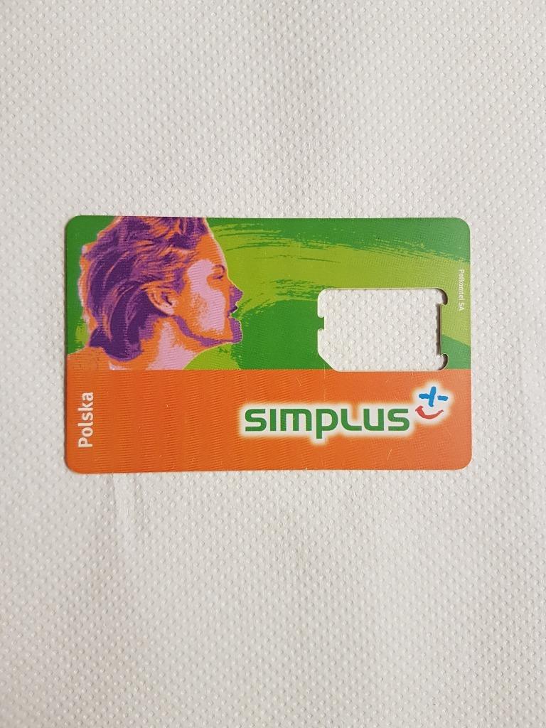 СИМ-КАРТА КОЛЛЕКТОРА (РАМКА) SIMPLUS 1-й ШАБЛОН