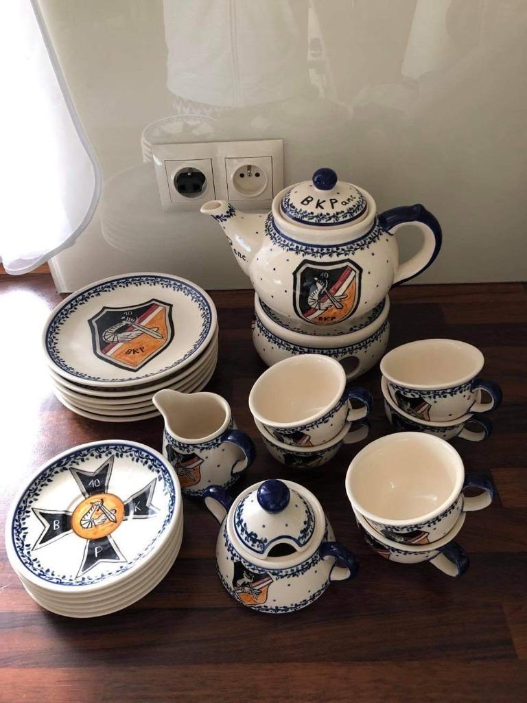 Unikatowy zestaw kawowy wykonany z porcelany bole
