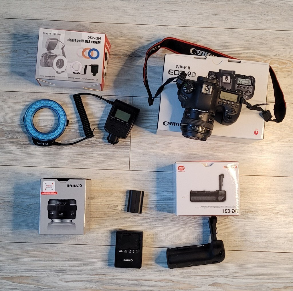 Canon Eos 6d Mark + grip + Led ring + obiektyw 50