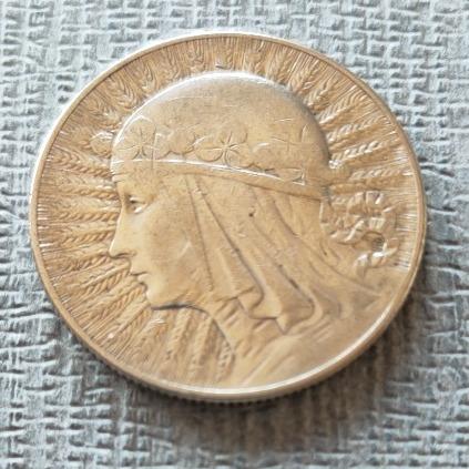 Moneta 5 zł 1934 Polonia Głowa kobiety srebro