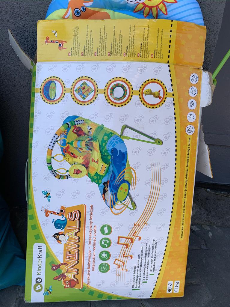 Leżaczek leżak interaktywny KinderKraft do 9kg Kup teraz
