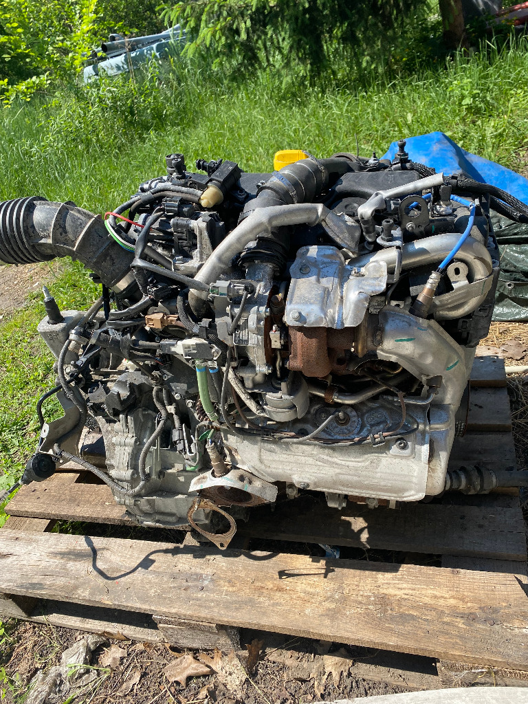 Двигатель k9kf64+ коробка renault nissan 1.5 dci 17r, фото 0