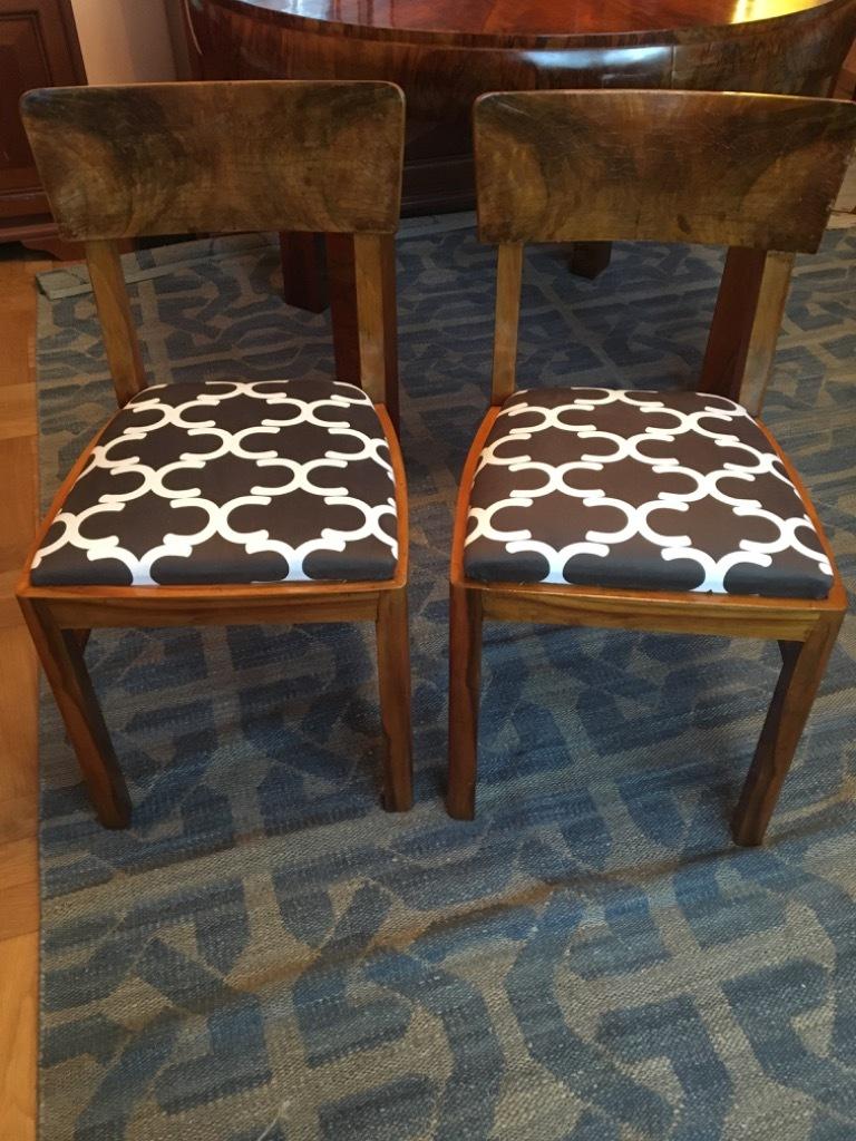 Krzesła art deco komplet 4 sztuki