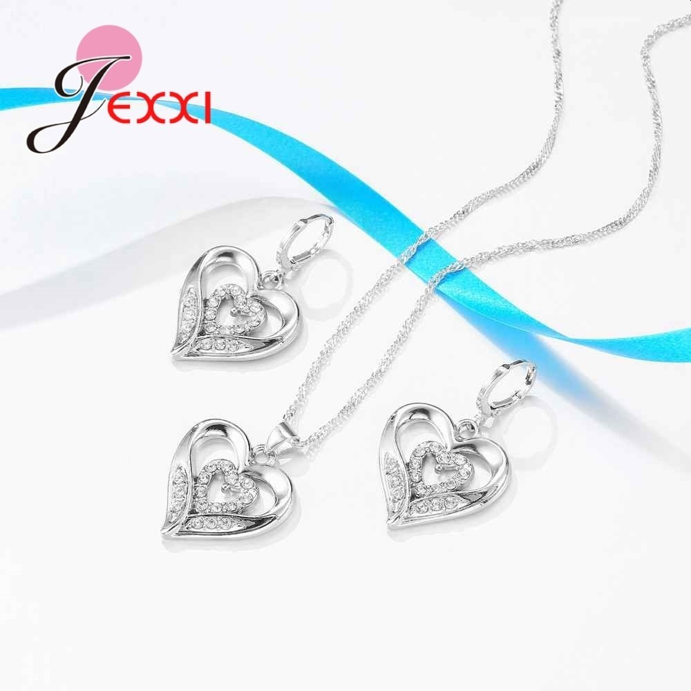 925 Sterling Silver Jewelry Sets Preety Good Gifts