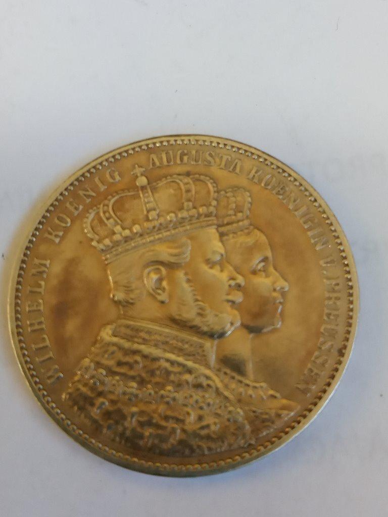 Prusy 1 talar 1861  Koronacja Wilhelma i Augusty