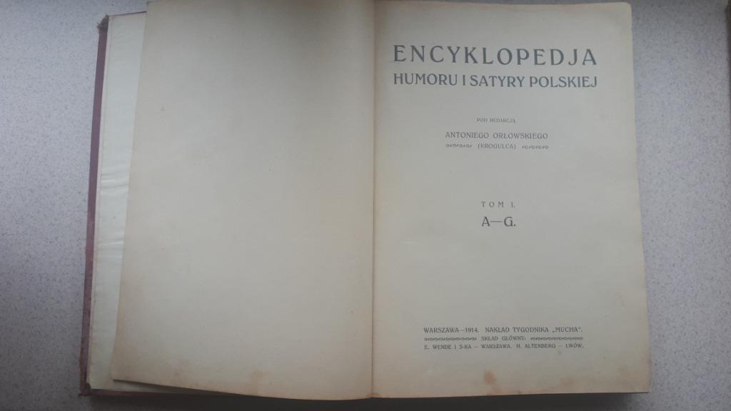 Encyklopedia humoru i satyry polskiej Tom I