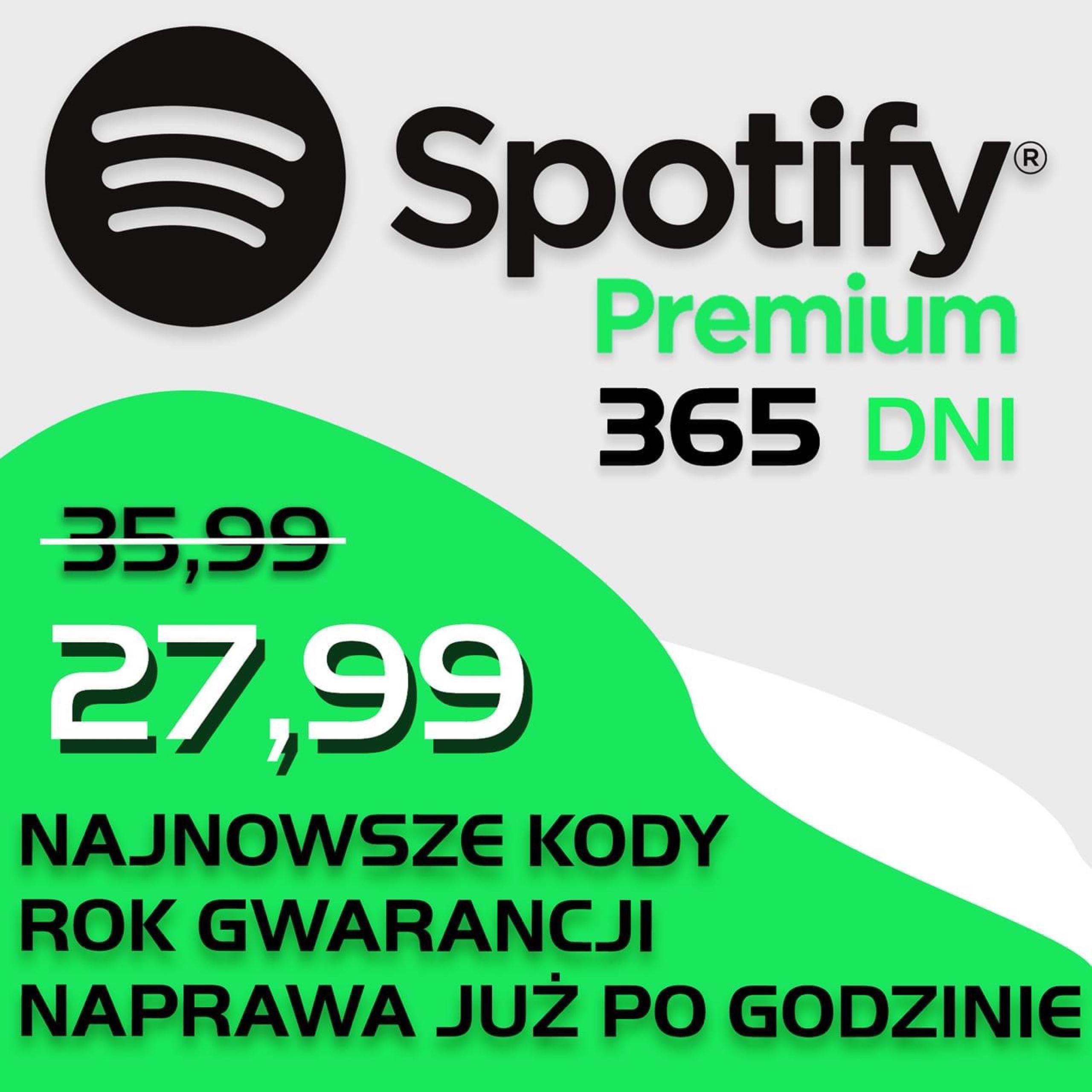 Spotify Premium 1 Rok 365 Dni Ulepszenie Konta Kup Teraz Za 27 99 Zl Lubon Allegro Lokalnie