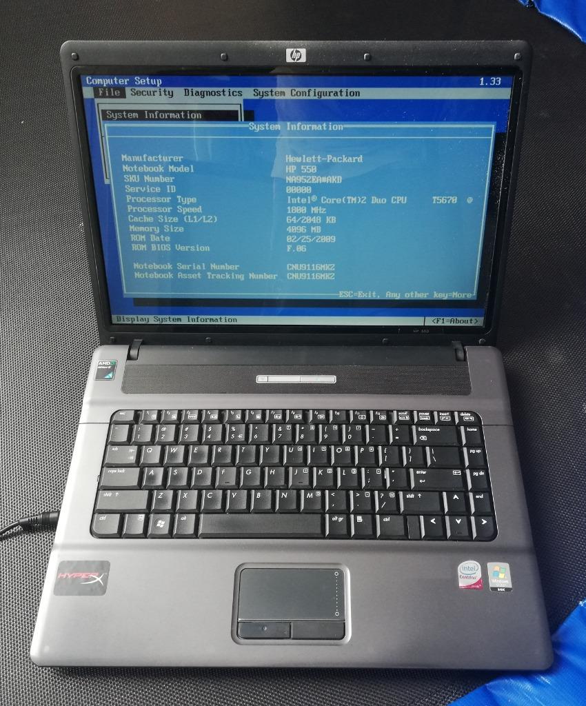 Laptop Hp 550 Na952ea Akd Na Czesci Kup Teraz Za 150 00 Zl Olsztyn Allegro Lokalnie