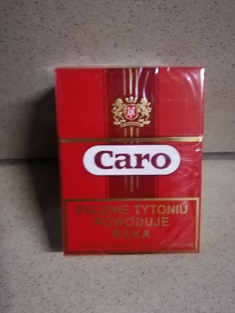 Papierosy CARO czerwone PRL