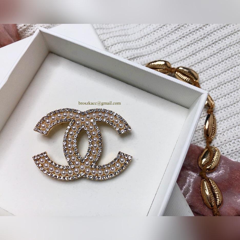 Broszka Cc Chanel Ka święta Stal Perły Cyrkonie Kup Teraz Za 149 00 Zł Warszawa Allegro Lokalnie