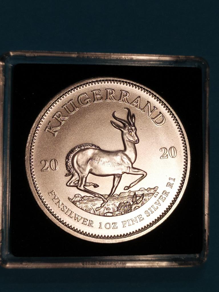 Krugerrand Srebro 1 uncja srebra 999  2020 w kapsl