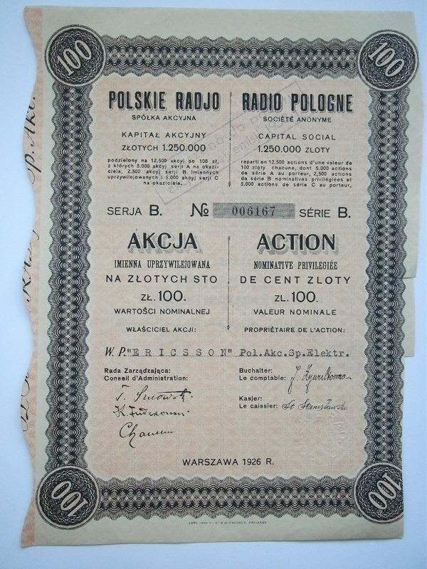 POLSKIE RADIO -ERICSSON SA