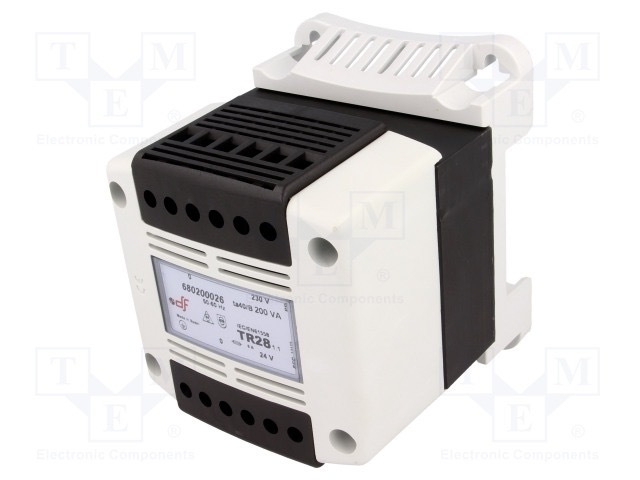 DF Transformator: sieciowy; 200VA; 230VAC; 24V