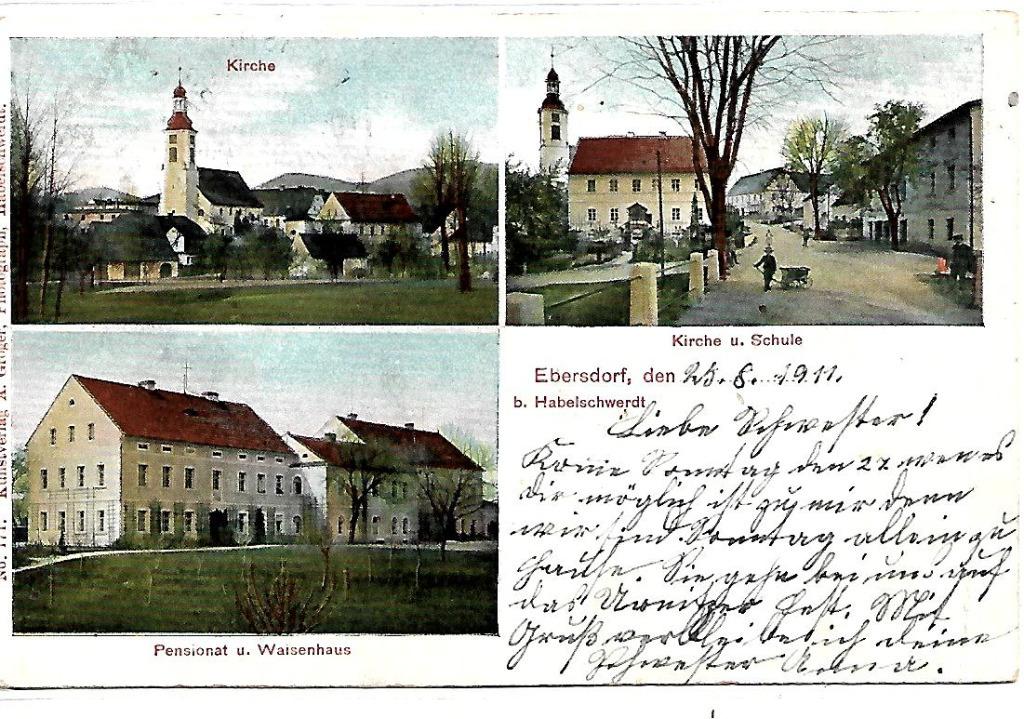 Domaszków, (Ebersdorf), 1911 rok