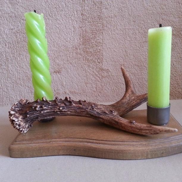 świecznik na dwie świece