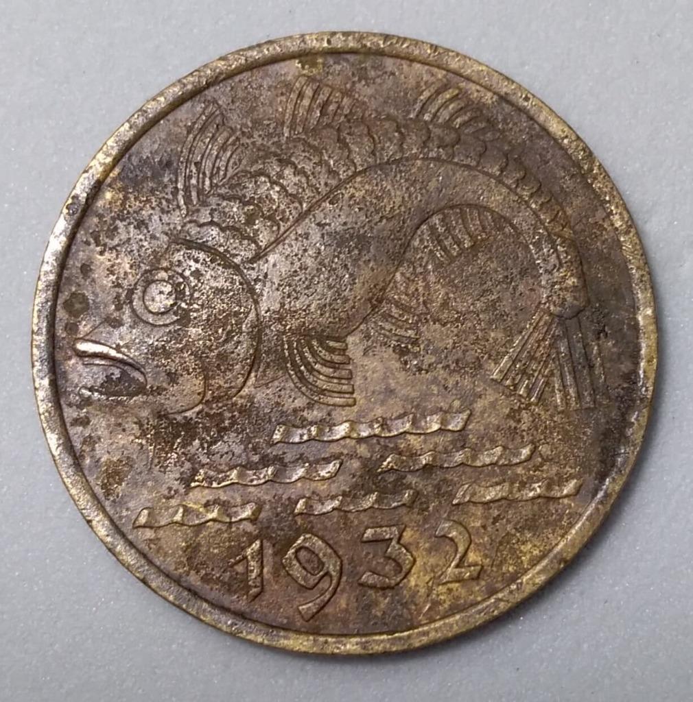 10 fenigów 1932 r. Dorsz
