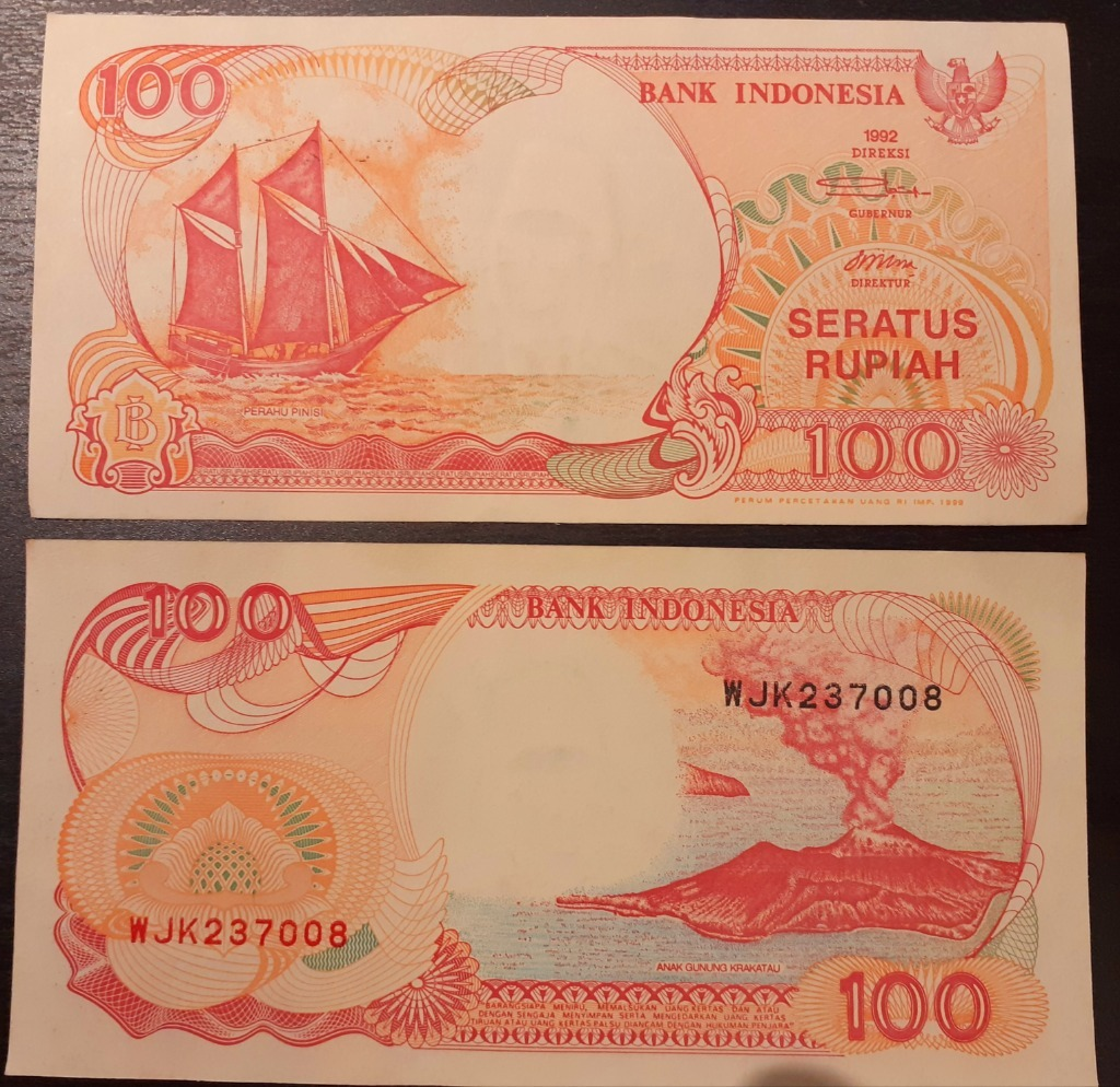 Indonezja 100 Rupii (Rupiah) 1992 rok. Stan UNC