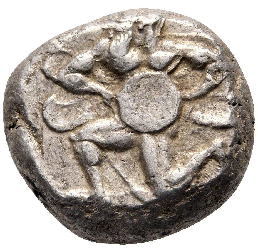 WSPANIAŁY STATER Z MALLOS, KRONOS ŁABĘDŹ 425-385BC