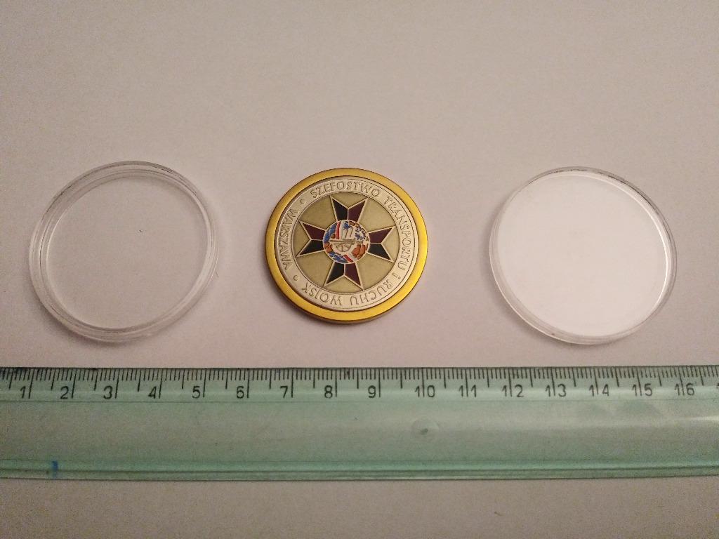 Coin medal pamiątkowy Święto Transportu Wojskowego