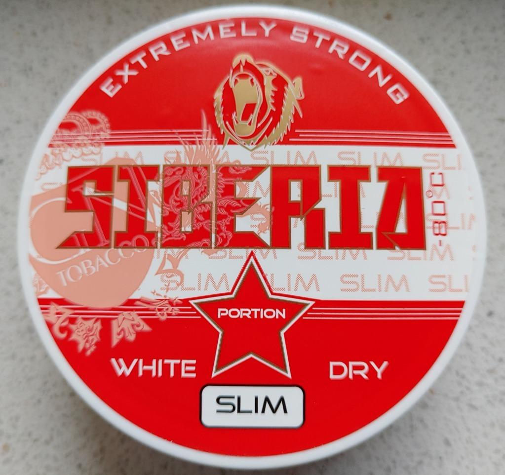 Kolekcja Snus SIBERIA white dry slim