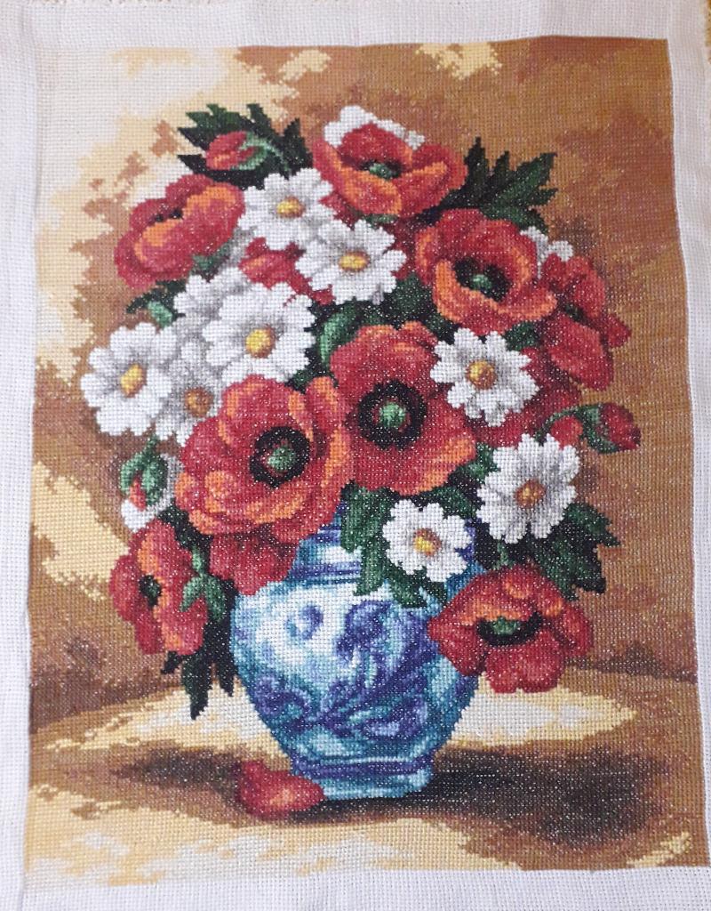 Polne kwiaty - obraz haft krzyżykowy