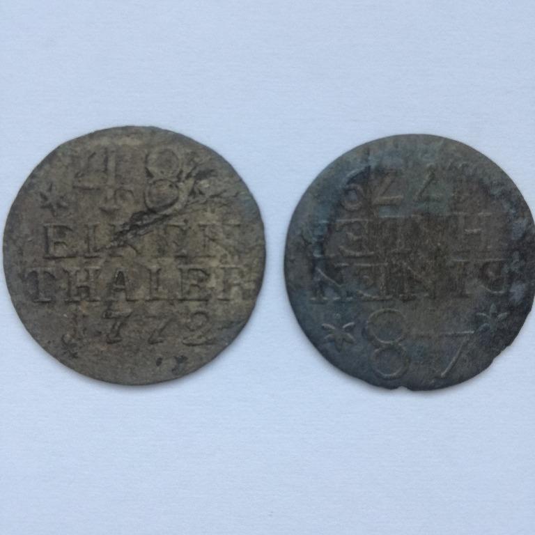 Dwie monety 48 część Talara 1772 i 1779 r- srebro