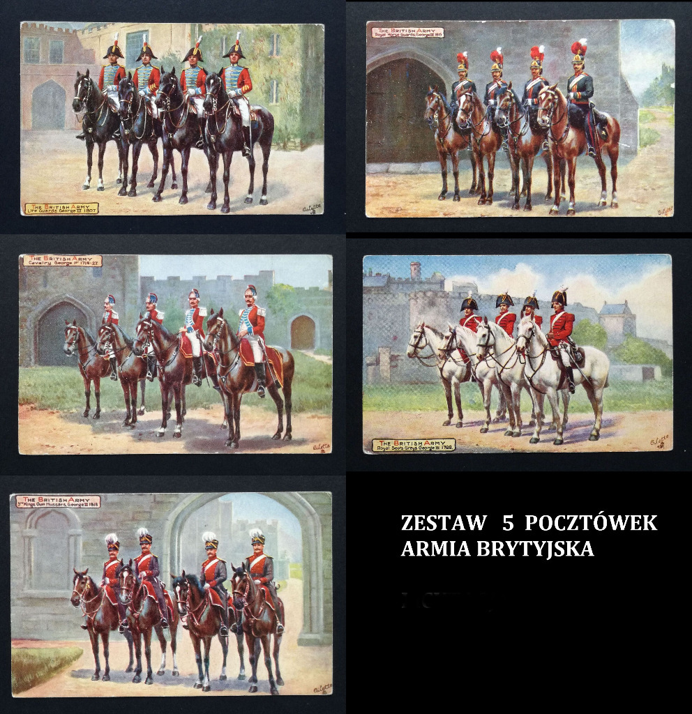 Исторические открытки British Army НАБОР 5 шт.