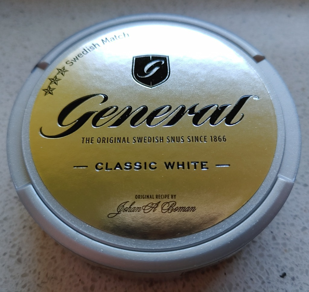КОЛЛЕКЦИЯ SNUS GENERAL CLASSIC WHITE