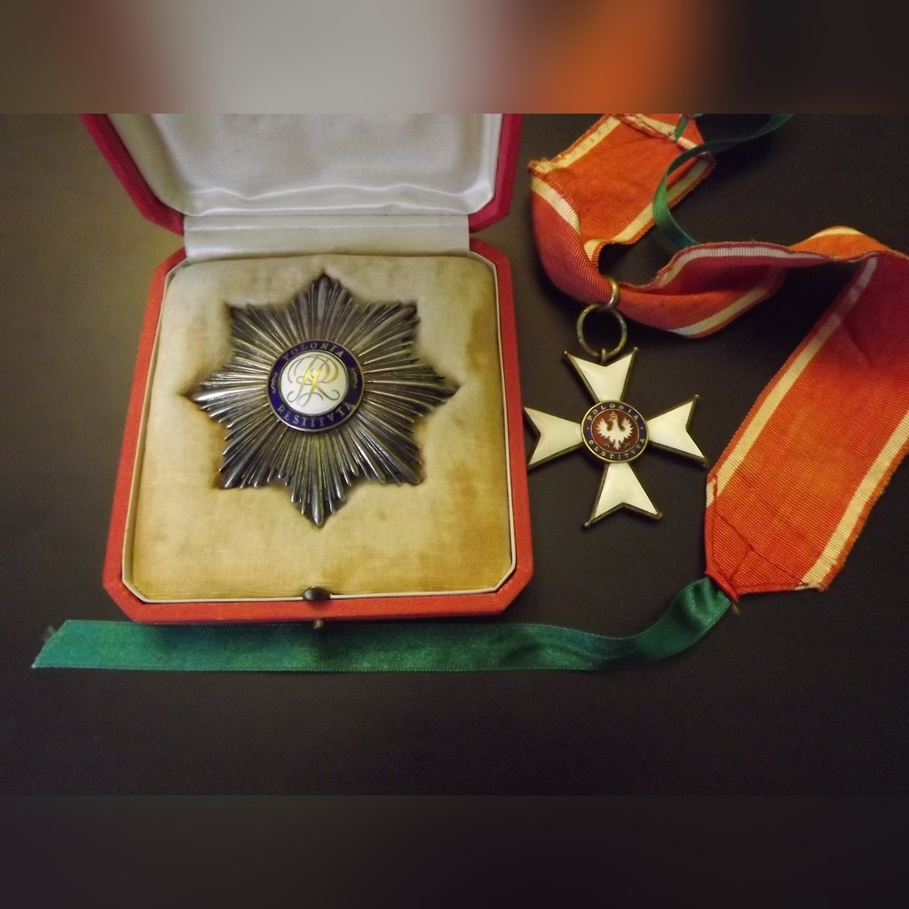 Item The order of Polish Rebirth II CL. a cross and a Star