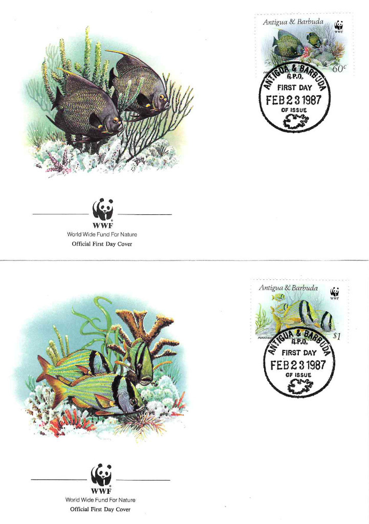 Zestaw 4 kopert WWF Antigua i Barbuda nr 67