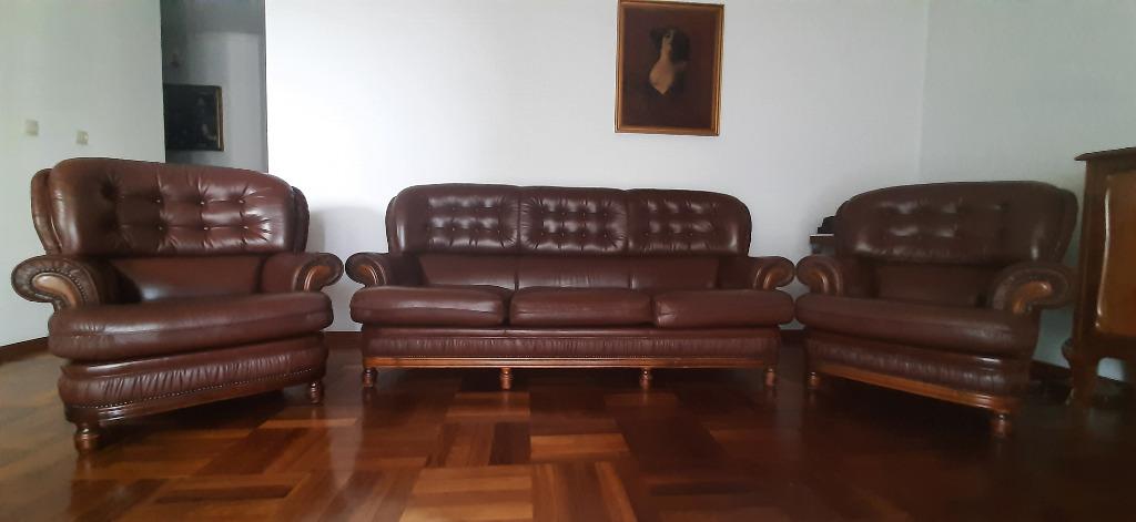 ОРИГИНАЛ! Коричневый кожаный диван Честерфилд