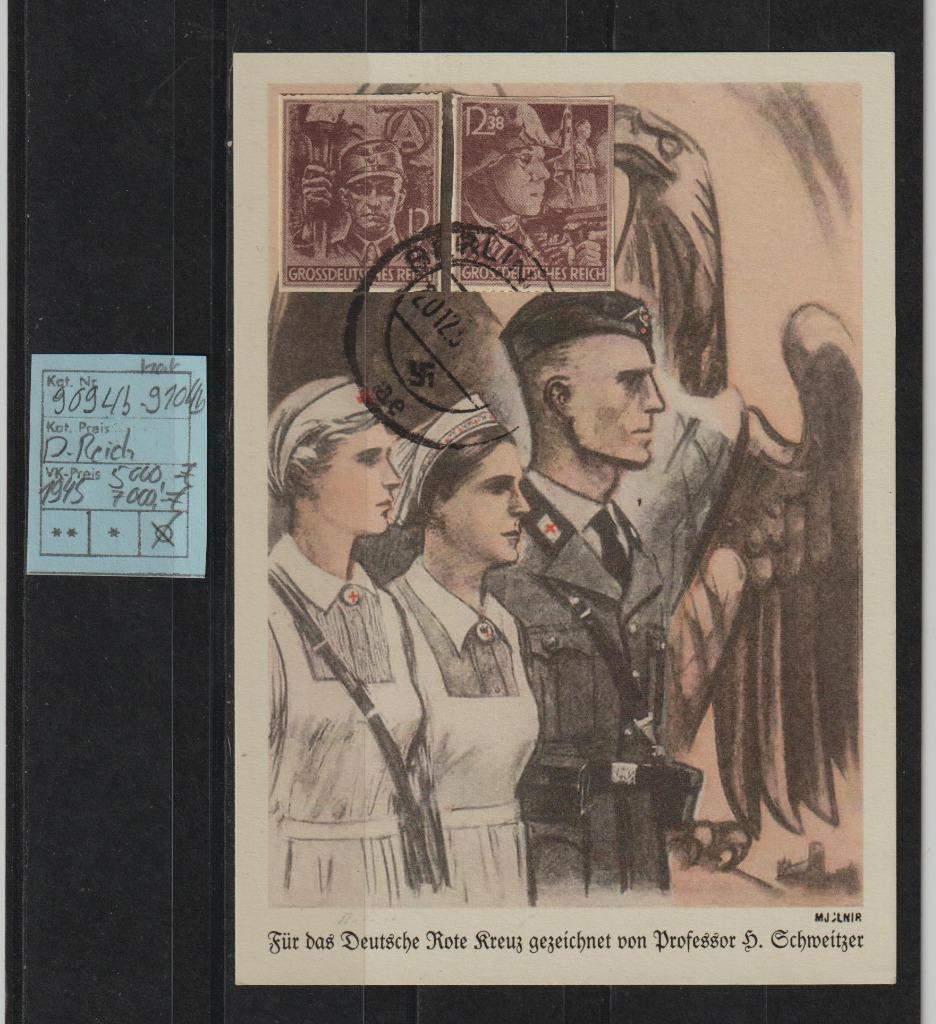 Niemcy D.Reich Mi.Nr. 909u-910u na Karta spra.BPP