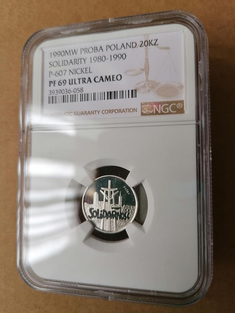 20,000 PLN / 1990 / NGC PF 69 UC / ОБРАЗЕЦ НИКЕЛЯ