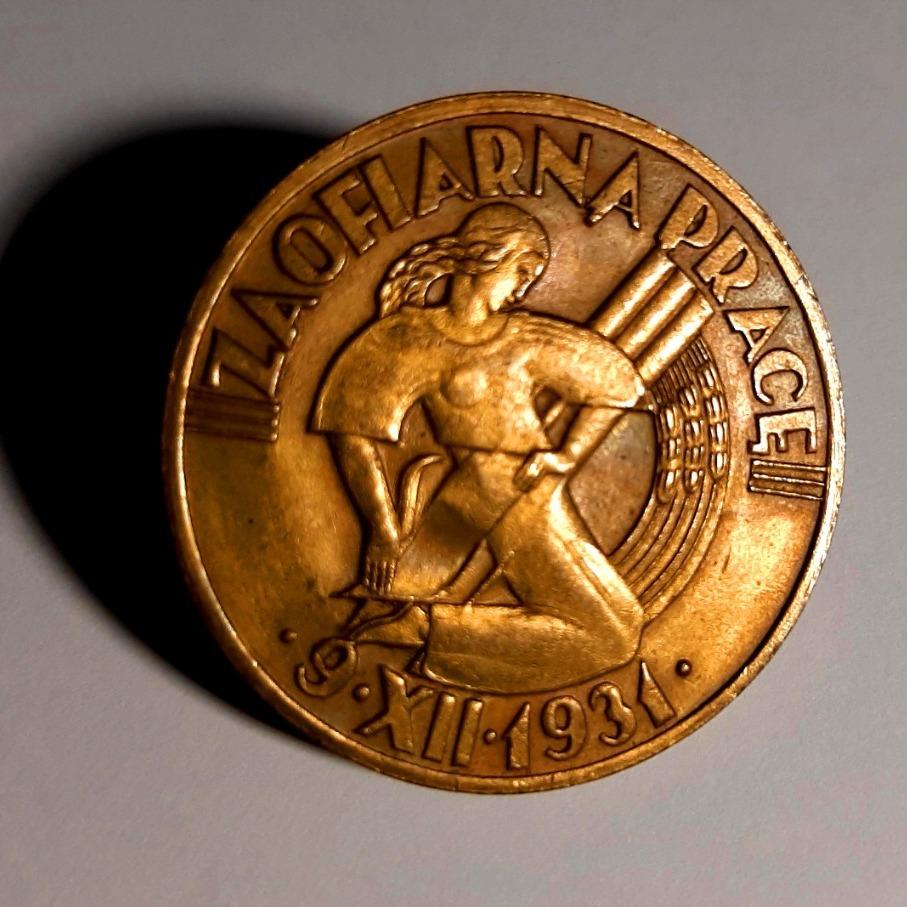"""Odznaka Honorowa """"Za Ofiarną Pracę"""" - II RP 1931r."""