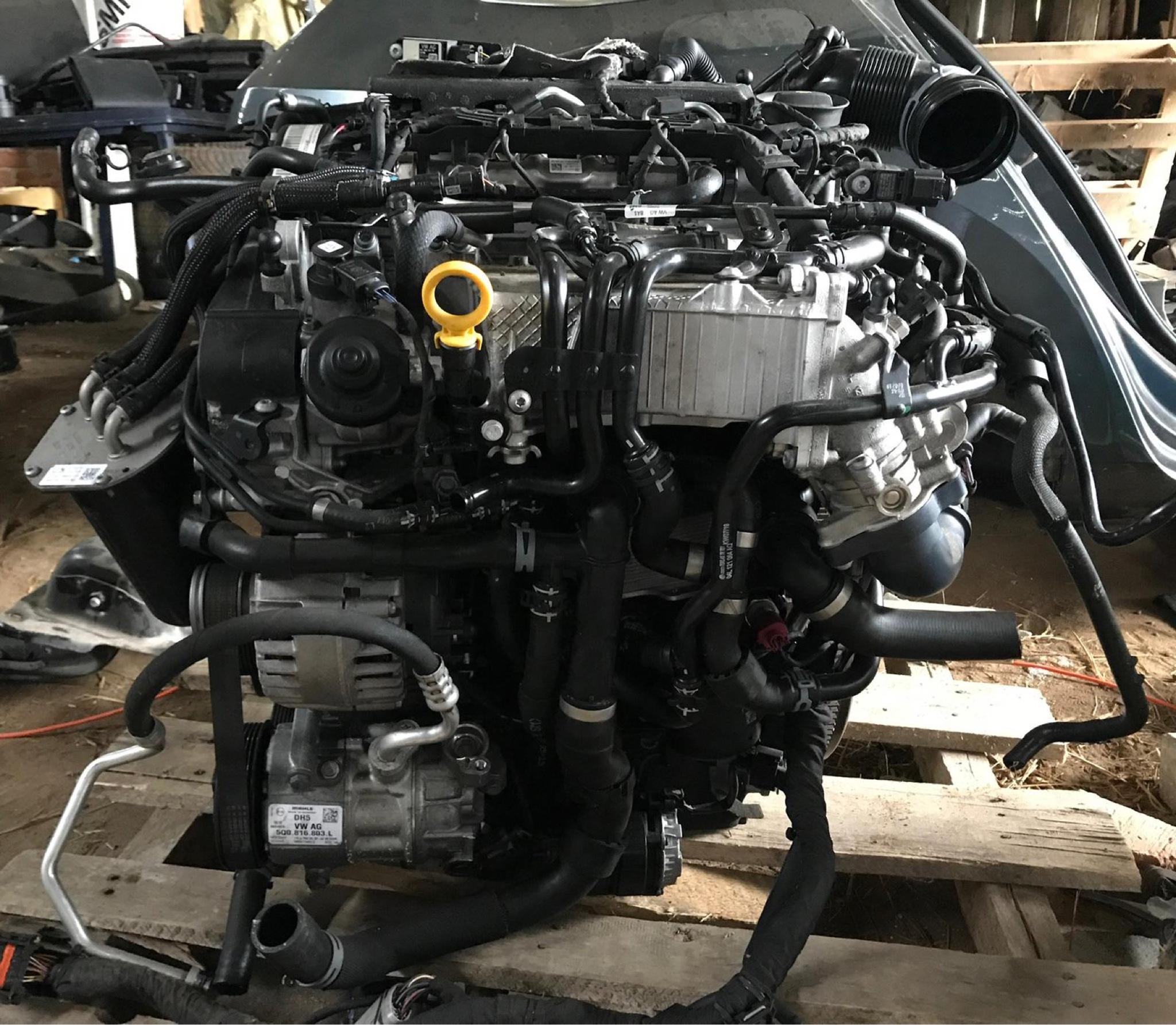 Двигатель комплектный dfh 2, 0 tdi volkswagen skoda seat, фото 3
