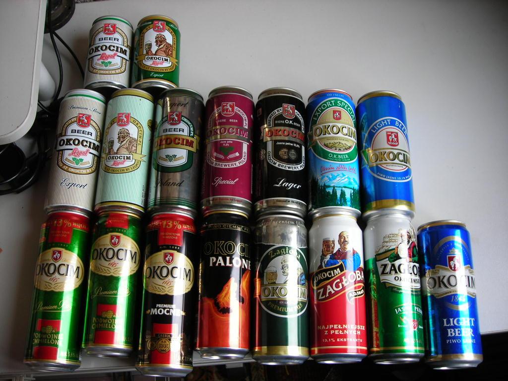 Puszki po piwie 409szt z 80, 90 Dojlidy Okocim Dab
